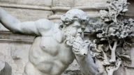 Panning videoclip: details of statues at Trevi Fountain in Rome video