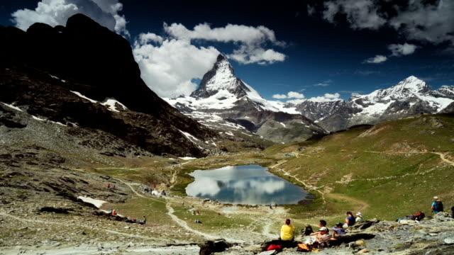 Panning view of Matterhorn Glacier, Switzerland video