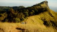 pannning: Doi Mon Jong mountain in sunset video