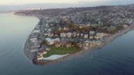 Panorama Aerial View of West Seattle Alki Beach video