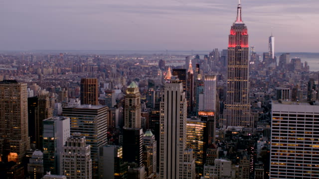Panorama empire State building in New York City video