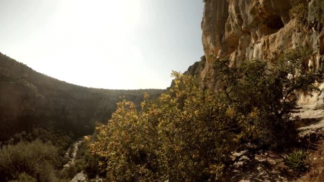Panorama Gorge Seytanderesi The Man Rocks figures in niches Adamkayalar Mersin province Turkey video