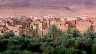 Panorama of a village in Moroccan hills video