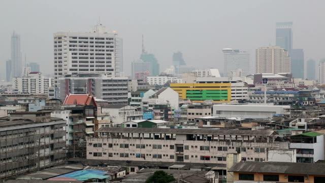 Panorama of Bangkok downtown, Thailand video
