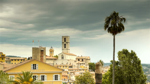 Panorama of Grasse, Cote D'Azur France video