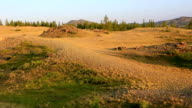 Panorama of Kuray mountain range at dawn video