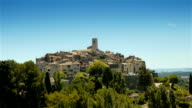 Panorama of medieval Tourrettes sur Loup, South France video