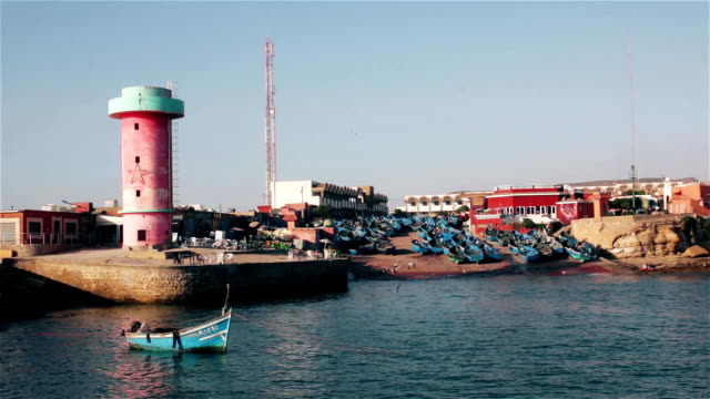 Panorama of Port of Imsouane Morocco video