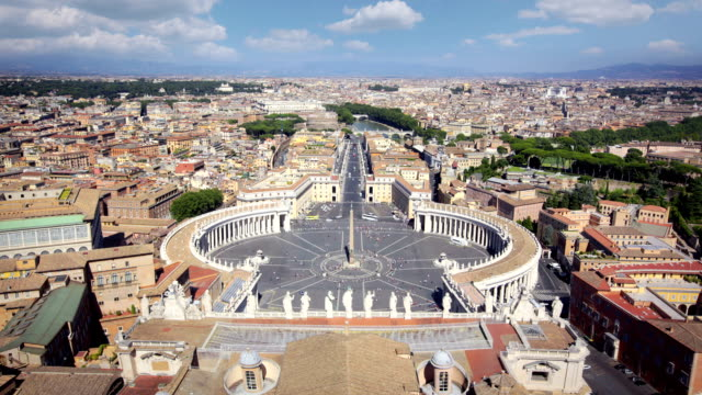 Panorama of Saint Peters Square and across Rome, Italy video