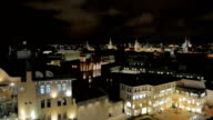 Panorama of the city at night video