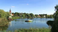 Panorama of the city 'Werder' in Germany video