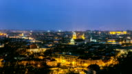panorama of the old town of Vilnius, Lithuania video