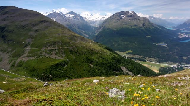 Panorama of the Upper Engadine from Muottas Murag video