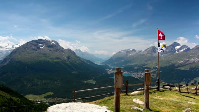 Panorama of the Upper Engadine from Muottas Muragl. video