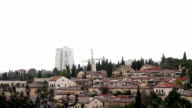 Panorama of West Jerusalem Yemin Moshe neighborhood . video