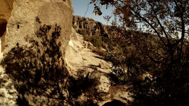 Panorama Rock carved caves Adamkayalar Turkey famous landmark Mersin province video