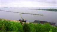 Panorama view of Dnieper River from Devich Mountain in Trypillia village, Ukraine video