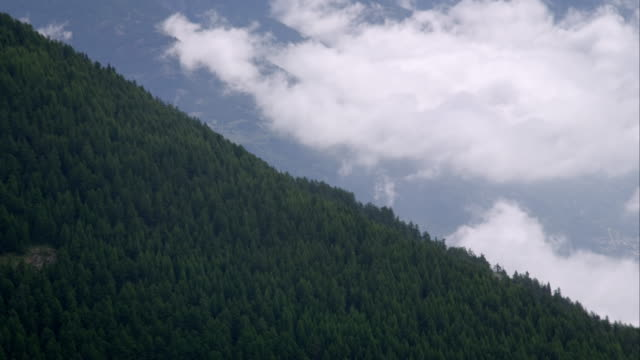Panorama view of some mountains in the alps video