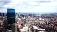 Panoramic aerial view of the city of Boston, Massachusetts video