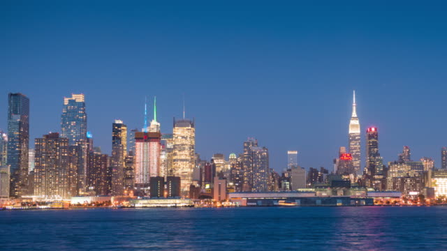 Panoramic Day to Night Time Lapse of NYC Skyline video