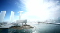 Panoramic Motion Along an Ice Block video