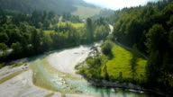 HD: Panoramic Shot Of A River Valley video