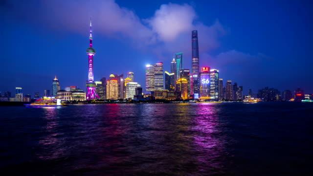 Panoramic skyline of Shanghai timelapse video