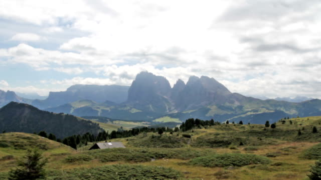 Panoramic view at Seiser Alm - Dolomites - Italy video