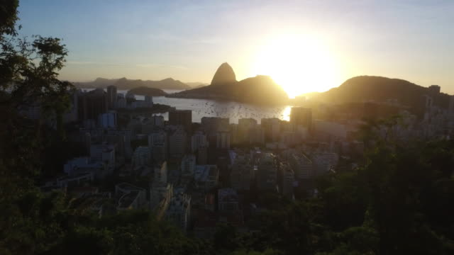 Panoramic view made drone of the city of Rio do Janeiro in Brazil video