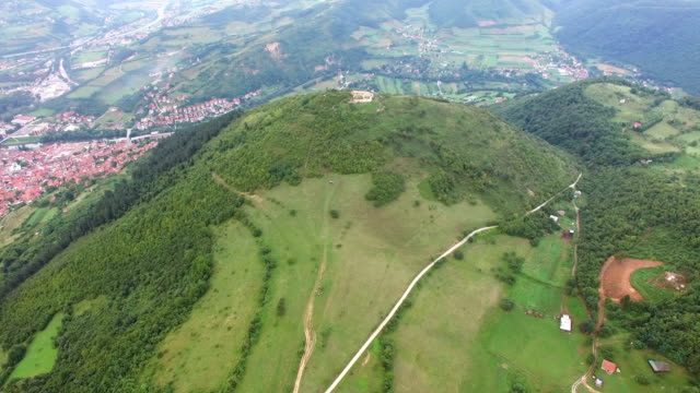 Panoramic view of ancient pyramids in Visoko, Bosnia video