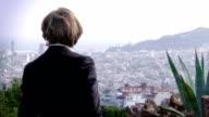 Panoramic view of Barcelona video