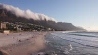 Panoramic view of Camps Bay Beach Cape Town,South Africa video