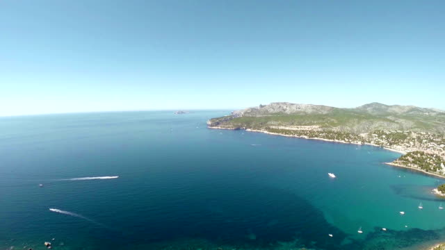 Panoramic view of Cassis and Calanque Coast video