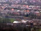 panoramic view of Hebden Bridge, West Yorkshire, from hill video