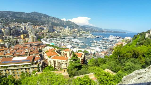Panoramic view of Monte Carlo city, Cote d'Azur, Monaco video