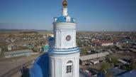 Panoramic view of orthodox church tower video