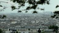 Panoramic view of Paris from Sacre cœur video