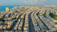 Panoramic view of residential district near the sea video