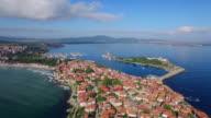 4K Panoramic view of Sozopol, Bulgaria video