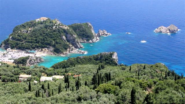 Panoramic view of the Corfu Island video