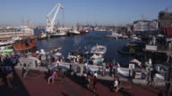 Panoramic view of the famous Victoria and alfred waterfront Cape Town video
