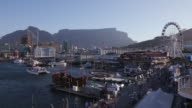 Panoramic view of the famous Victoria and Alfred waterfront Cape Town,South Africa video
