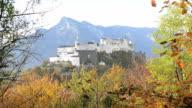 Panoramic view of the historic city , Salzburg video