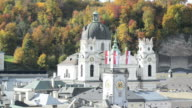 Panoramic view of the historic city Salzburg video