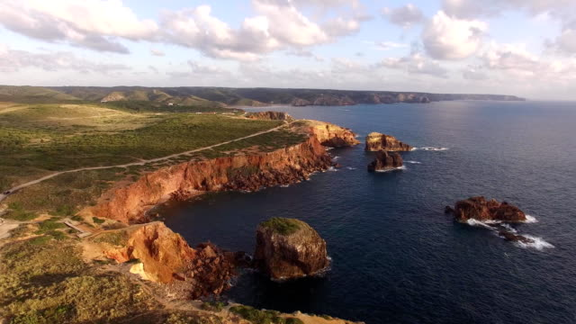 Panoramic view of the ocean and the cliffs of Portugal, near Carrapateira, Rota Vicentina. video
