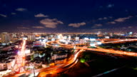 Panoramic view of urban landscape in Asia Time Lapse video