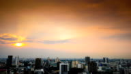 Panoramic view of urban landscape in Bangkok Thailand video
