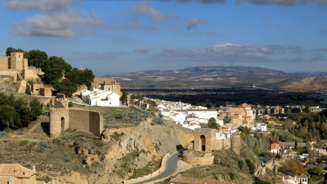 Panoramic view on Alcazaba fortress in Antequera video