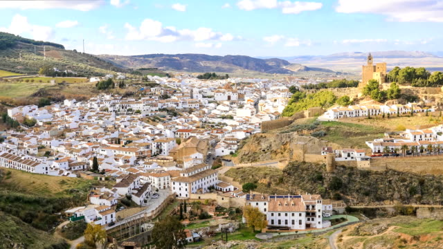 Panoramic view on historical town Antequera video