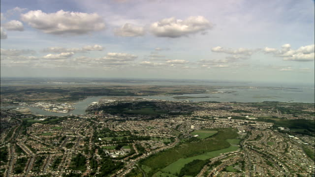 Panoramic View over Rochester - Aerial View - England, Medway, United Kingdom video